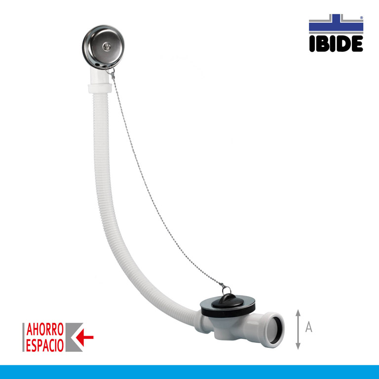 Bathtub waste with flexible overflow. Low horizontal outlet - Ibide ...